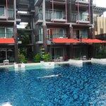 Rooms facing huge pool