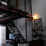 Stairs up to bedroom