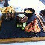 Steak & King Prawns
