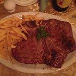 Husbands T-Bone steak. Huge and so tasty