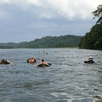 One of the activities the lodge provides that is floating down the Napo River