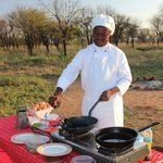 Our wonderfull chef in motion at Serengeti North Wilderness Camp