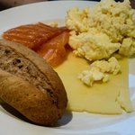 Executive Lounge breakfast at the Hilton London Gatwick