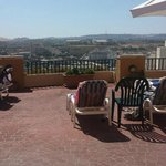 Other side of roof top terrace by bar