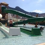Toddler pool and slide in water park