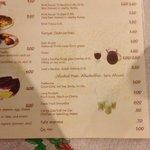 menu quadrilingue