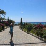 romantic walk way in aquagrand