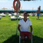 Cheery lifeguard