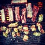 Ribs & meat rolls
