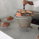Charcoal stove toasted bread