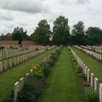 Arras Cemetery beyond the wall of names