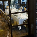 Private dining perfectly suited for rehearsal dinners and intimate business dinners.