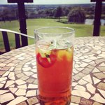Pimms on the balcony