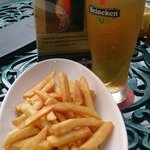 French Fries and Beer at KT's Grill