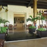 Lobby area leading to the French and Mexican restaurant