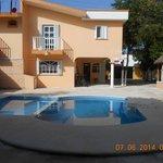 Pool side/Hostel/bikes