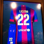 My personalized kit from FC Barcelona