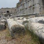 fallen columns.