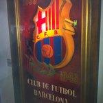 Old FC Barcelona Futbol banner