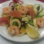 La salade de gambas aux agrumes et ses senteurs exotiques