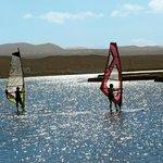 Windsurf on the lagoon
