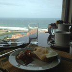 The breakfast view from the Executive Lounge