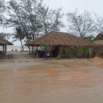 restaurant & beach opposite the hotel