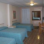 Room #1 three beds
