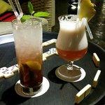 Au bar...jeux de société prêtés par l'hôtel