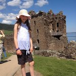 A beautiful day at Urquhart Castle ovelooking Loch Ness