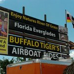 Look for the sign, best airboat ride.