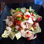 Seafood salad which was nice