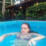 Lígia na piscina !!!