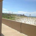 Bridge view from Room 148 patio.