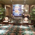 Parte del lobby del Hotel