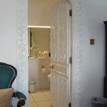Ornate bathroom door