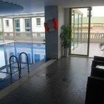 The pool on the 3rd floor balcony