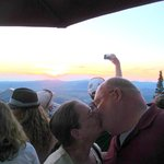 Sunset 32nd Anniversary kiss