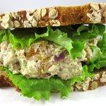 Honey Mustard Apricot Chicken Salad Sandwich