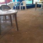 "Waterpark ""snack area"" - Dear Hotel, Please clean the floors DAILY!"