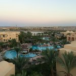 View from the tower is a must! Across the main pool area