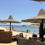 Beach was three deep with the sunbeds, shades and surrounds - never felt crowded and lots of spa