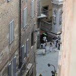 The corner of Piazza del Campo