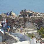 The highpoint for viewing of Oia sunsets