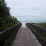 The walkway from the condo to the beach