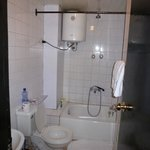 Our bathroom - hot showers and flush toilet
