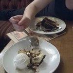 delicious desserts , gooie cookie cheesecake and choc fudge cake