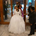 A wedding reception at the Semien Hotel