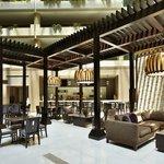 Our modern hotel atrium