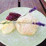 Cream tea - Lavender Scone